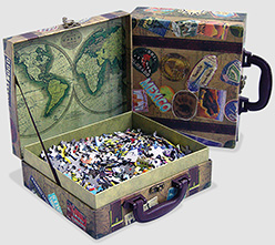 Jigsaw Puzzle with Suitcase